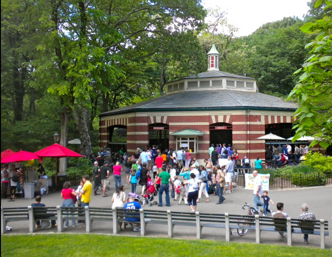 central park carousel pic by me